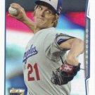 Zack Greinke 2014 Topps Update #US-297 Los Angeles Dodgers Baseball Card