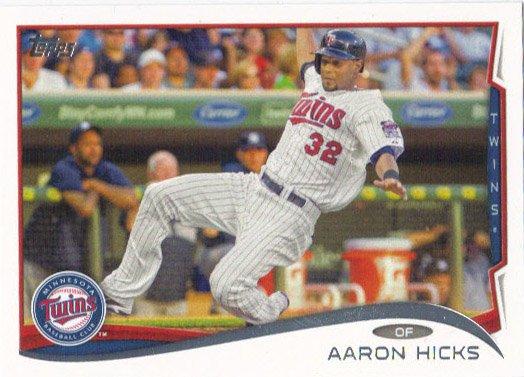 Aaron Hicks 2014 Topps #12 Minnesota Twins Baseball Card