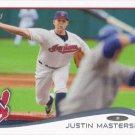 Justin Masterson 2014 Topps #507 Cleveland Indians Baseball Card