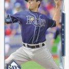 Matt Moore 2014 Topps #588 Tampa Bay Rays Baseball Card