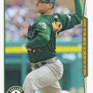 Jarrod Parker 2014 Topps #355 Oakland Athletics Baseball Card