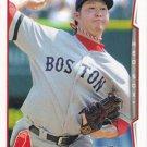 Junichi Tazawa 2014 Topps #131 Boston Red Sox Baseball Card