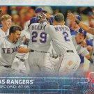 Texas Rangers 2015 Topps #698 Baseball Team Card