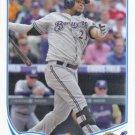 Juan Francisco 2013 Topps Update #US301 Milwaukee Brewers Baseball Card