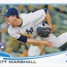 Brett Marshall 2013 Topps Update Rookie #US51 New York Yankees Baseball Card