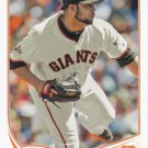 Jose Mijares 2013 Topps Update #US174 San Francisco Giants Baseball Card