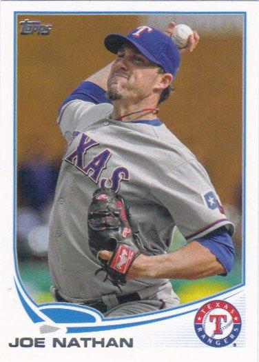 Joe Nathan 2013 Topps #236 Texas Rangers Baseball Card