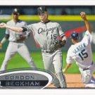 Gordon Beckham 2012 Topps #629 Chicago White Sox Baseball Card