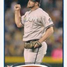 Heath Bell 2012 Topps #421 Miami Marlins Baseball Card