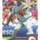 Francisco Cordero 2011 Topps #593 Cincinnati Reds Baseball Card