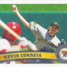 Kevin Correia 2011 Topps Update #US245 Pittsburgh Pirates Baseball Card