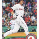 Jed Lowrie 2011 Topps #576 Boston Red Sox Baseball Card