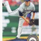 Shaun Marcum 2011 Topps #615 Milwaukee Brewers Baseball Card