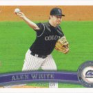 Alex White 2011 Topps Update Rookie #US142 Colorado Rockies Baseball Card