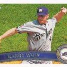 Randy Wolf 2011 Topps #14 Milwaukee Brewers Baseball Card
