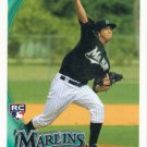 Alex Sanabia 2010 Topps Update Rookie #US287 Florida Marlins Baseball Card