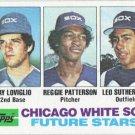 Jay Loviglio-Reggie Patterson-Leo Sutherland 1982 Topps Rookie #599 Chicago White Sox Baseball Card