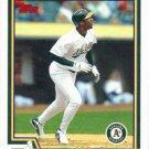 Jermaine Dye 2004 Topps #579 Oakland Athletics Baseball Card