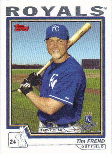 Tim Frend 2004 Topps Rookie #321 Kansas City Royals Baseball Card
