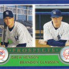 Drew Hensen-Brandon Claussen 2003 Topps Rookie #681 New York Yankees Baseball Card