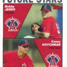 Bobby Jenks-Casey Kotchman 2004 Topps Rookie #331 Anaheim Angels Baseball Card