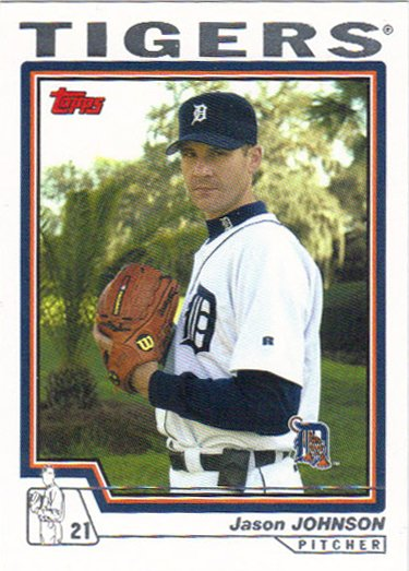 Jason Johnson 2004 Topps #533 Detroit Tigers Baseball Card