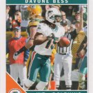 Davone Bess 2011 Score #154 Miami Dolphins Football Card