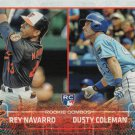 Rey Navarro-Dusty Coleman 2015 Topps Update Rookie #US298 Orioles-Royals Baseball Card