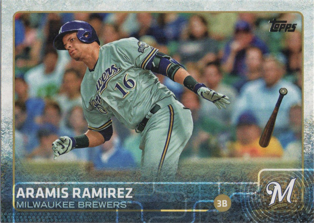 Aramis Ramirez 2015 Topps #646 Milwaukee Brewers Baseball Card
