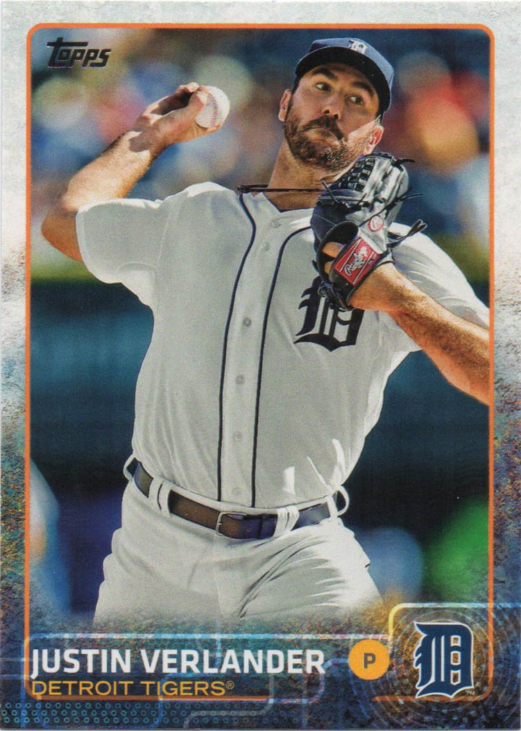 Justin Verlander 2015 Topps #463 Detroit Tigers Baseball Card