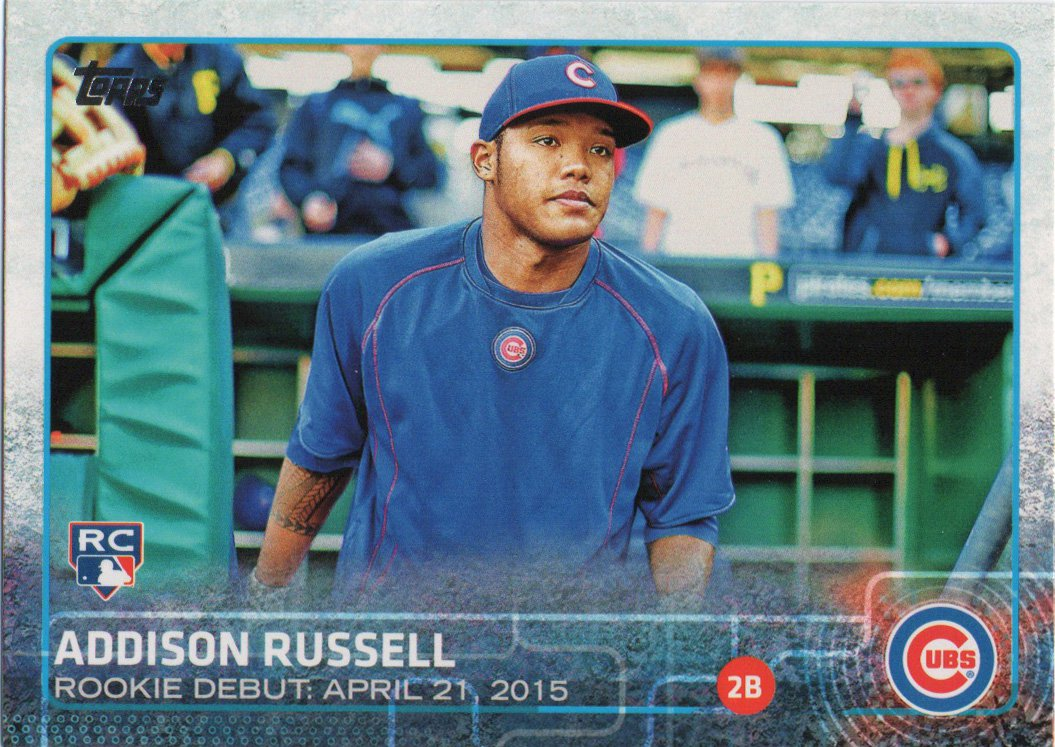 Addison Russell 2015 Topps Update Rookie Debut #US208 Chicago Cubs Baseball Card