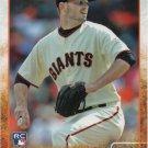 Chris Heston 2015 Topps Rookie #530 San Francisco Giants Baseball Card
