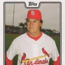 Tony La Russa 2008 Topps #285 St. Louis Cardinals Baseball Card