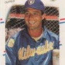 Rick Manning 1988 Fleer #168 Milwaukee Brewers Baseball Card