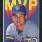 Paul Molitor 1989 Donruss MVP #BC-9 Milwaukee Brewers Baseball Card