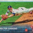 Andrelton Simmons 2015 Topps #651 Atlanta Braves Baseball Card