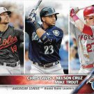Chris Davis-Nelson Cruz-Mike Trout 2016 Topps #26 Baseball Card