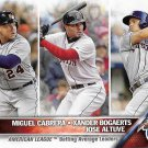 Miguel Cabrera-Xander Bogaerts-Jose Altuve 2016 Topps #29 Baseball Card