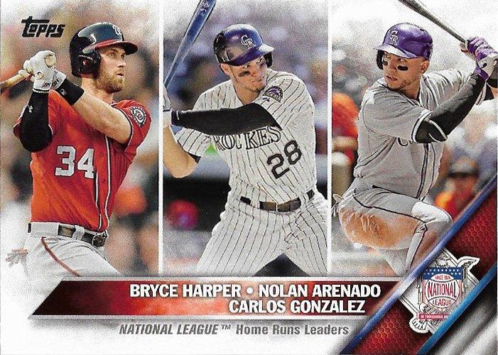 Bryce Harper Nolan Arenado Carlos Gonzalez 2016 Topps 337