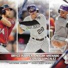 Bryce Harper-Nolan Arenado-Carlos Gonzalez 2016 Topps #337 Baseball Card