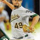Edward Mujica 2016 Topps #330 Oakland Athletics Baseball Card