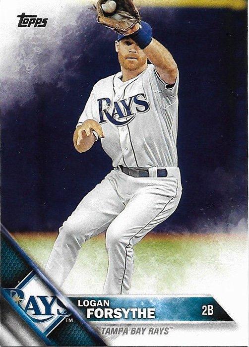Logan Forsythe 2016 Topps #216 Tampa Bay Rays Baseball Card