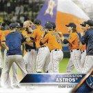 Houston Astros 2016 Topps #302 Baseball Team Card