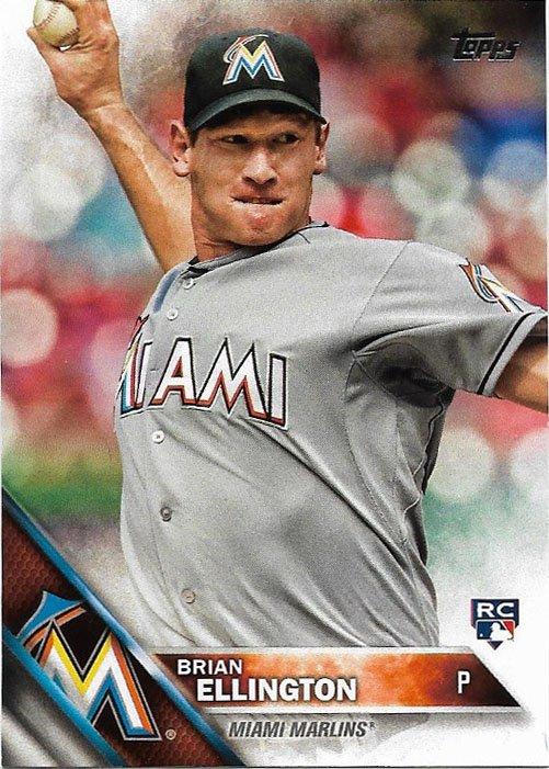 Brian Ellington 2016 Topps Rookie 226 Miami Marlins Baseball Card