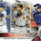 Josh Donaldson-Chris Davis-Jose Bautista 2016 Topps #162 Baseball Card