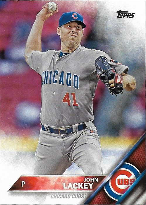 John Lackey 2016 Topps 470 Chicago Cubs Baseball Card