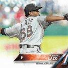 Raudel Lazo 2016 Topps Rookie #436 Miami Marlins Baseball Card