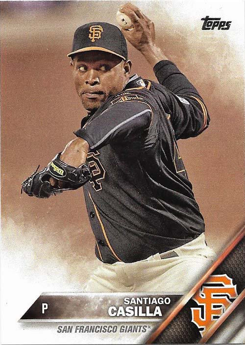 Santiago Casilla 2016 Topps #605 San Francisco Giants Baseball Card