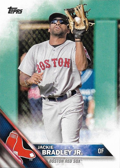 Jackie Bradley Jr. 2016 Topps #425 Boston Red Sox Baseball Card