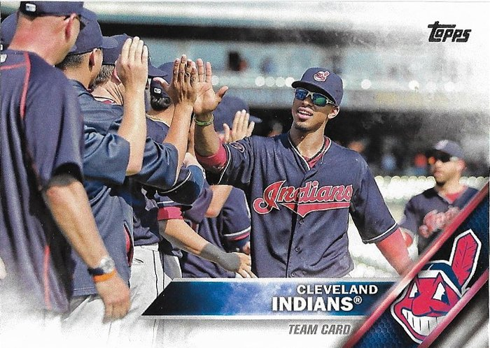 Cleveland Indians 2016 Topps #398 Baseball Team Card